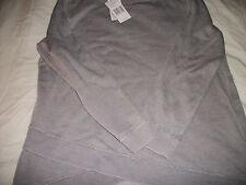 Calvin Klein Women's Shirt Top Blouse  LITE Gray Size  MEDIUM