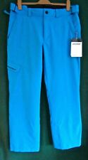 "New ZIENER Mens 38"" Waist TEVIOT Turquoise Blue Snow Ski Trousers SALOPETTES"
