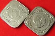 5 cent penning vierkant : Koningin Juliana - Wilhelmina 1975 (31)