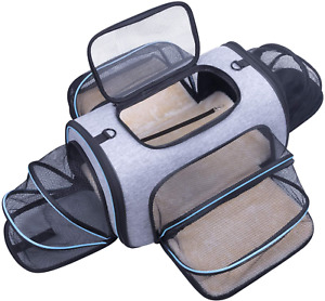 Siivton 4 Sides Expandable Pet Carrier, Airline Approved Soft-Sided Dog Cat Carr