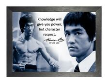 Bruce Lee 58 Hong Kong American Actor Film Director Martial Arts Quote Poster