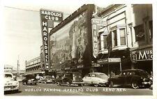 STREET SCENE, HAROLD'S CLUB, RENO, NEVADA, RPPC, VINTAGE POSTCARD