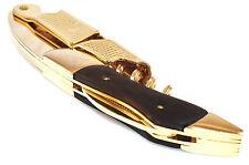 Gold & Black Corkscrew Wood Handle Professional Double Hinge Waiters Wine Key