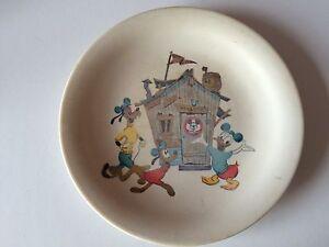 Rare Retro Vintage  Melaware Disney Mickey Mouse Plate