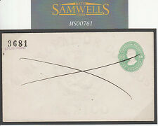 MS761 1878 Mexique entiers postaux 10 C Pen cross annulée * Guanajuato * preuve?