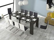 Mesa de comedor mesa consola extensible mesa cocina, Gris Ceniza