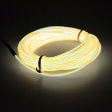 Flexible Neon LED Light Glow El Wire String Strip Rope Tube Car Christmas Party Red 2m Controller