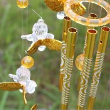 Cupid Guardian Angel Large Wind Chimes Metal Aluminum Tubes Bell Ornament