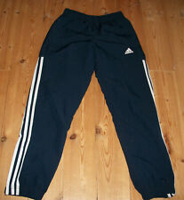 Navy blue adidas track pants trousers size 9-10 years