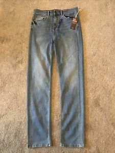 BNWT Blue Straight Jeans 12 Long M & S Soft With Stretch 'The Sophia'