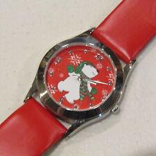 Avon 'Tis the Season Polar Bear Watch Quartz MOP Face Winter Holidays