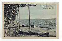 On The Beach Lake Nipissing North Bay Ontario Canada Unposted Post Card I822