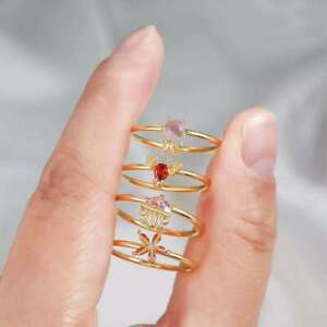 Gold Plated Inlay Cubic Zirconia Marine Life Fashion Jewelry Ocean Animal Rings