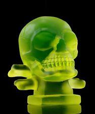 Art Deco Glass ' Skull ' Figurine Hood Ornament 1930' H.Hoffmann