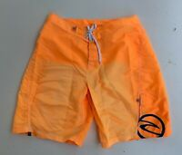 RIP CURL men's retro vintage orange nylon board beach surf shorts size 38