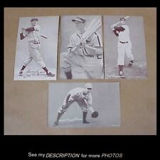 4 1953 Canadian Exhibits Baseball Cards Ted William Pee Wee Reese Stan Musial