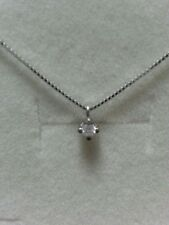 collar gargantilla punto de luz oro blanco 9 kt diamante natural 0,04 ct