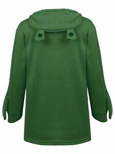 Women Girls Frog Hoodie Zipper Hooded Top Pullover Cosplay Sweatshirt Casual Top