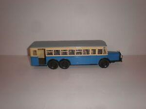 1/43  city bus 1938 MERCEDES BENZ  O.10000  blue/ivory/grey