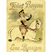 Guillaume Folies Bergere Lona Barrison Advert Large Canvas Art Print
