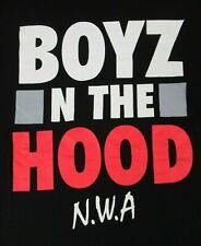 BOYZ N THE HOOD - N.W.A. - MEDIUM - BLACK T-SHIRT- B15