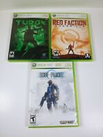 Xbox 360 Game Lot: Turok, Red Faction Guerrilla &  Lost Planet Extreme Condition