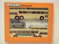 1:87 BREKINA Bus & Ford Set 9005 Busse Rheinbahn Düsseldorf, NEW but opened
