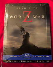 WORLD WAR Z 3D+2D BLU-RAY +DVD Limited Edition Steelbook Region Free