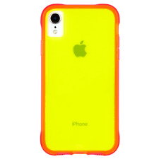 Case-Mate iPhone XR Tough Neon Green Pink Neon Case