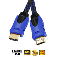 1.8M HDMI Cable Nylon Braided Premium 4K 2160P 1080P v2.0 High Speed HDMI Lead