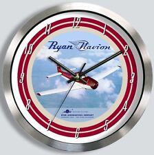 RYAN NAVION AIRCRAFT METAL WALL CLOCK L-17 L17