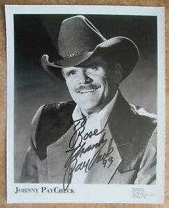 "JOHNNY PAYCHECK Signed Autograph 8""x10"" Talent Agency Management Photo"