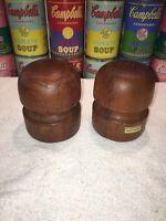 Mid Century Danish Modern Teak Mushroom Salt & Pepper Shaker Set - Dansk Like