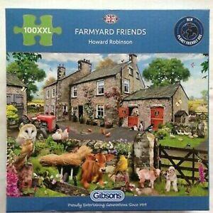 Gibsons Farmyard Friends 100 XXL Pieces Jigsaw Puzzle