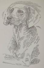 Weimaraner Dog Breed Magic Art Print #34 Stephen Kline will add dogs name free.