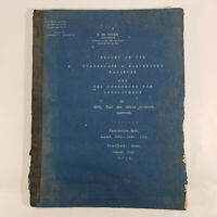 1918 Cumberland & Manchester Railroad Expansion Report Clay County Kentucky Rare