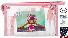 Large Leak Proof Travel Size Bottle Set For Soap Shampoo Lotion Gift TSA Pink