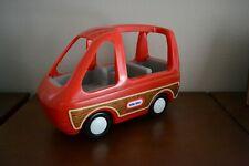 Vintage Little Tikes Red Mini Van SUV Wood Panel for Dollhouse