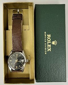 Vintage Rolex Precison Oysterdate 6694 Manual Wind Stainless Steel Watch 1969