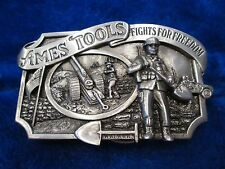 """Ames Tools Belt Buckle """"FIGHTS FOR FREEDOM"""" 1984 numbered Limited Edition"""