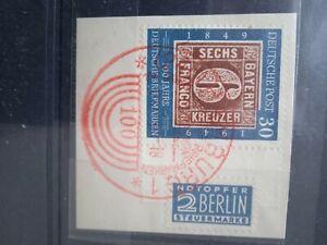 Michel Nr. 115 auf Briefstück mit SoSt Hamburg und Notoper