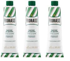 Proraso Shaving Cream, Refreshing and Toning, 5.2 oz (3 Pack)