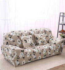 Leaf Floral Spandex Stretch Fitted Sofa Cover LAUBT Protector Washable Fit