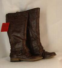 Carlos by Carlos Santana Boots Size 6.5 Wide Calf Brown Tall Shaft Hanna Womens.