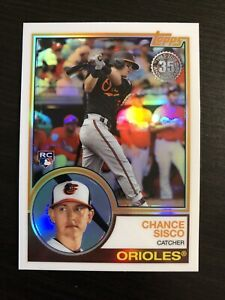 Chance Sisco 2018 Topps Silver Pack 1983 Retro Rookie Refractor #84 Orioles RC