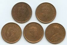 India British 1936, 1939, 1940, 1941 & 1942 1/4 Annas (#1556) Nice uncirculated
