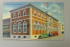 PUBLIC LIBRARY, POTTSVILLE,  PENNSYLVANIA Vintage Post card.