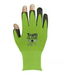 TRAFFI WORK SAFETY GLOVES / 10 PAIRS. TOP CUT LEVEL 5. SIZE 8. SAME DAY DISPATCH