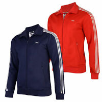 BNWT adidas MENS TRACK TOP FULL ZIP JACKET 3 STRIPES NAVY RED - SIZE  S M L XL