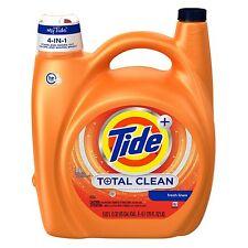 Tide Liquid HE Total Clean Fresh Linen Laundry Detergent Soap 88 Loads 170 oz